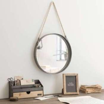 Miroir rond à suspendre en
