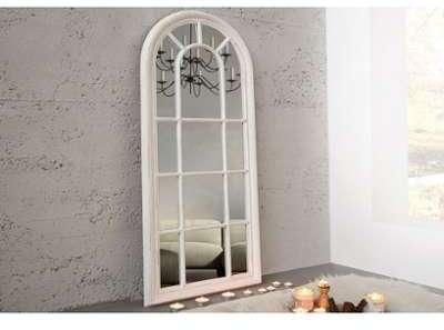 Miroir design en bois gris