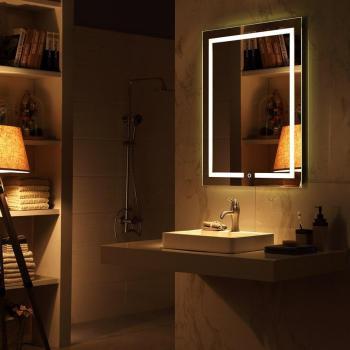 Miroir design lumineux rectangulaire
