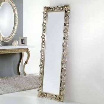 Grand miroir de sol mural
