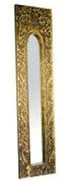Miroir trumeau en résine doré