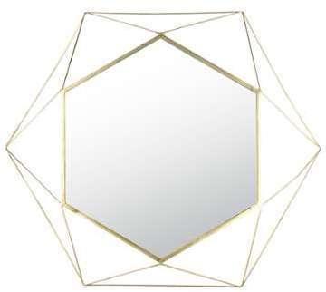 Miroir filaire doré 101x117