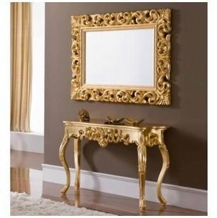 Miroir design doré Milady
