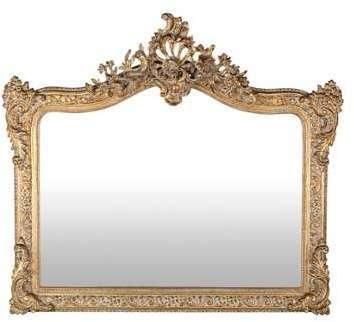 Miroir à moulures dorées 114x100