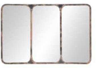 Miroir indus en métal noir