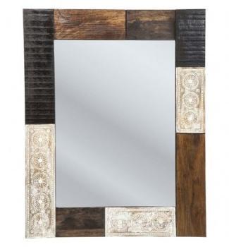 Miroir design en bois de manguier