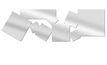 Miroir carrés multiples allongés