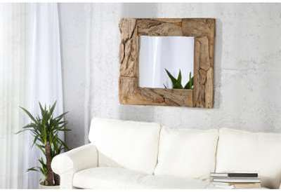 Miroir mural design rustique