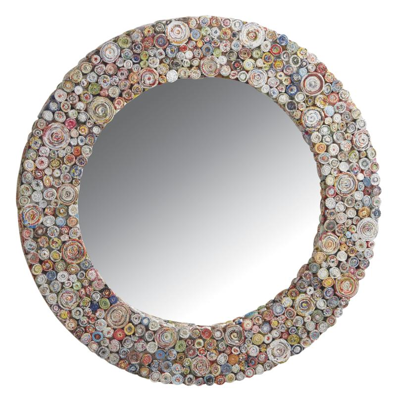 Miroir Déco rond en papier