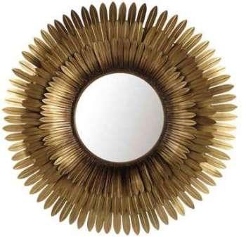 Miroir en métal doré D 103