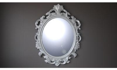 Miroir ovale style baroque