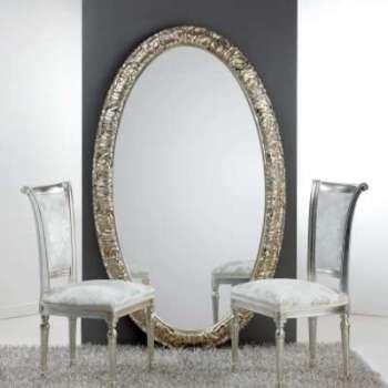 Grand miroir ovale de sol