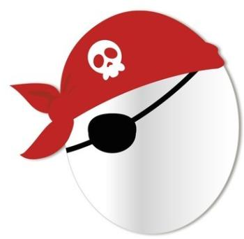 Miroir enfant Tête Pirate