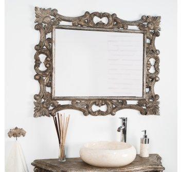 Miroir baroque en bois patiné
