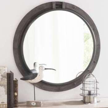 Miroir en métal noir H 74