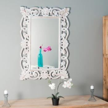 Miroir Cordoue en bois patiné