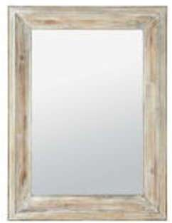 Miroir rectangulaire blanchi