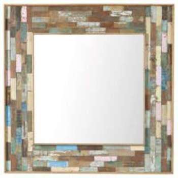 Miroir en bois H 90 cm BOH