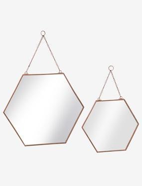 Catgorie miroir page 26 du guide et comparateur d 39 achat for Miroir hexagonal cuivre
