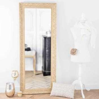 Miroir en bois de paulownia