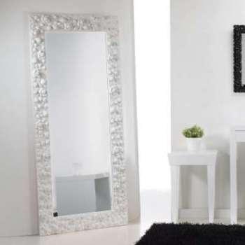 Gran miroir blanc de sol mural