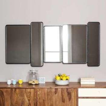 Miroir en métal noir H 71