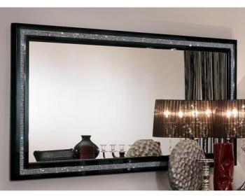 Miroir PERLA 190 cm noir laqué