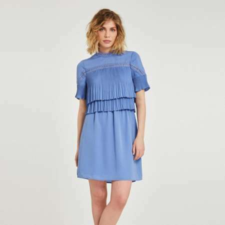 d1863880cb robe portefeuille unie manches
