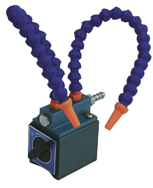 Base magnetique avec 2 flexibles