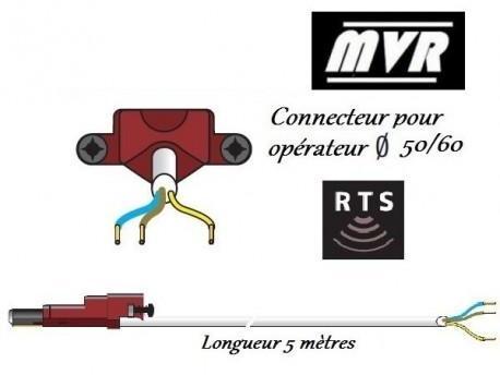 Cable moteur VVF Somfy LT50