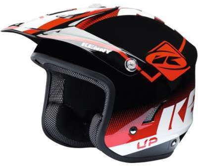 Casque Trial Up Red Black