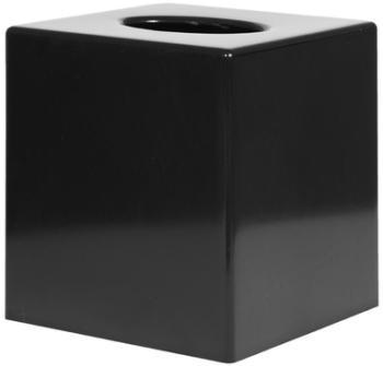 Boîte à mouchoirs carrée noire