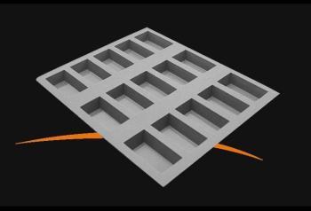 Moule en silicone avec micro