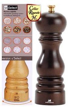 Moulin à sel Paris 18cm chocolat