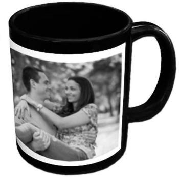 Mug noir personnalisé