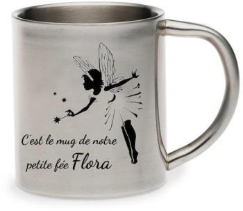 Mug métal inox personnalisé