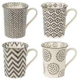 Coffret de 4 mugs motifs ethnique
