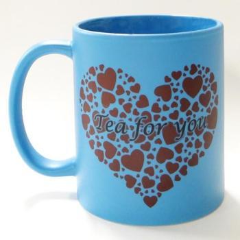 Mug personnalisé Bleu dépoli