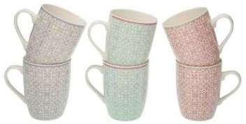 Set de 6 Mugs en Porcelaine