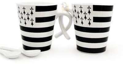 2 mugs tasses Drapeau Breton
