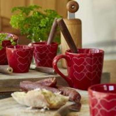 Mug céramique rouge Make A