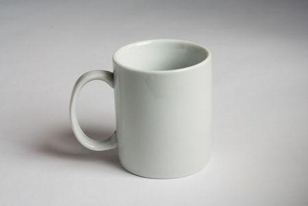 Mug blanc 9 5cm - Cafétéria