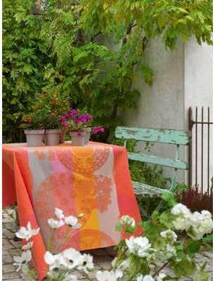Nappe fleurs gourmandes pèche