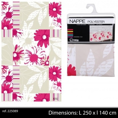 Nappe Textile Polyester Infroissable