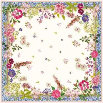 Nappe carrée motif fleuri
