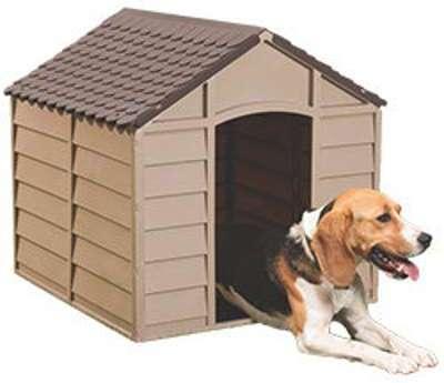 Niche pour chien en PVC Moka