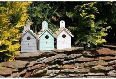 Nichoir à oiseaux coloré bois