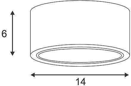 CL 101 GX53 plafonnier rond