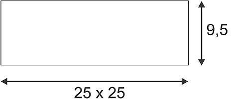 GL 104 E27 plafonnier carré