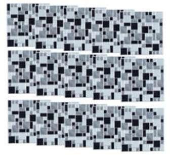 15 mosaïques autocollantes